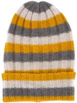 The Elder Statesman cashmere striped beanie