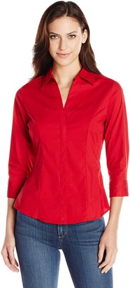 Riders by Lee Indigo Women's Bella 3/4 Sleeve Woven Shirt