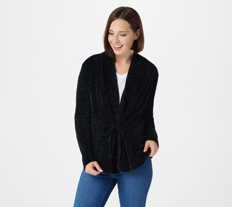 AnyBody Chenille Tie-Front Cardigan