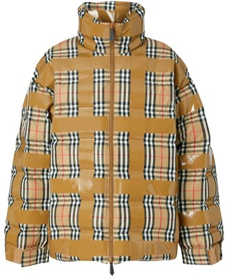 Burberry Checkdown Tape Coat