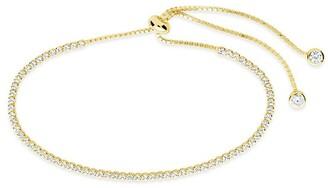 Sterling Forever 14K Gold Plated Clear CZ Slider Bracelet