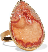 Dara Ettinger Gold-tone stone ring