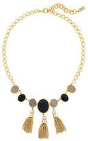Cole Haan 10K Gold-Plated Multi-Stone Fringe Necklace