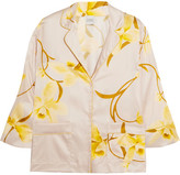 Carine Gilson Floral-print Silk-satin Pajama Top - Yellow