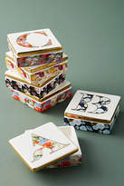 Anthropologie Monogram Lidded Jewelry Box