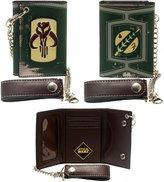 Star Wars Wallet Boba Fett Metal Badge w/Chain New Licensed mw1ppdstw