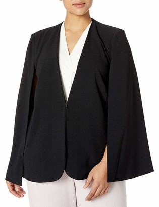 Tahari ASL Women's Pebble Crepe Cape