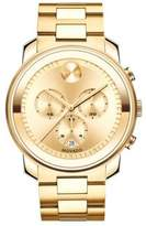 Movado Bold Goldtone IP Stainless Steel Chronograph Bracelet Watch