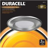 Duracell 6 in. Brushed Nickel Recessed LED Baffled Trim