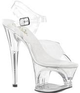 Pleaser USA Women's Moon 708 Cut-Out Platform Ankle-Strap Sandal
