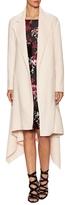 Oscar de la Renta Wool Two Pocket Asymmetrical Coat