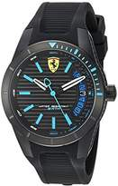 Ferrari Men's 'RedRevT' Quartz Stainless Steel and Rubber Casual Watch, Color:Black (Model: 830427)