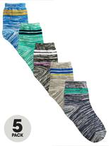 Very 5pk Sports Stripe Slub Socks
