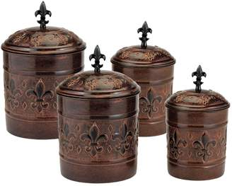 Old Dutch Versailles Set of Four Fresh Seal Canisters