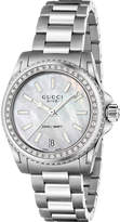 Gucci Ya136406 Dive Mother-of-pearl And Stainless Steel Watch