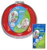 Kalencom Potette Plus Travel Potty includes EXTRA 10-Pack of Liners and BONUS Sani-Han...
