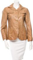 Marni Leather Notch-Lapel Jacket