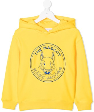 The Marc Jacobs Kids The Mascot-embroidered cotton hoodie