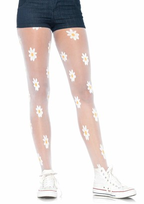 Leg Avenue Women's Woven Daisy Sheer Tights