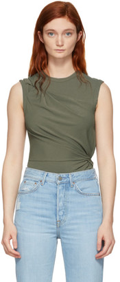 Alexander Wang Khaki Twisted Top