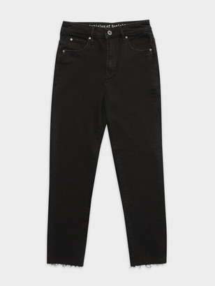 Articles of Society High Amy Mum Slim Jeans in Black Out