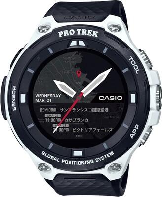 Casio Men's 'PRO TREK' Quartz Resin Outdoor Smartwatch Color Black (Model: WSD-F20-WECAU)