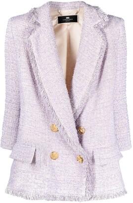 Elisabetta Franchi Double-Breasted Tweed Jacket