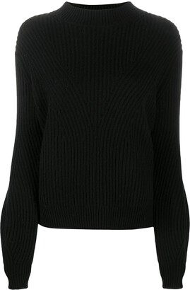 Chinti and Parker Ribbed Mock-Neck Jumper