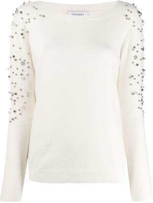 Snobby Sheep beaded embroidery jumper