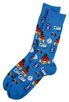 Hot Sox Men's Novelty Crew Socks