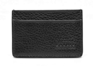 Lotuff Black Leather Credit Card Wallet