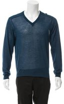 Calvin Klein Collection V-Neck Wool-Blend Sweater