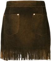 Diesel fringed mini skirt