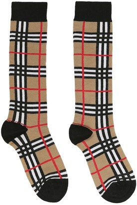 BURBERRY KIDS Vintage Check cotton-blend socks