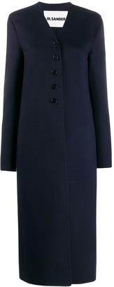 Jil Sander Long Single Breasted Coat