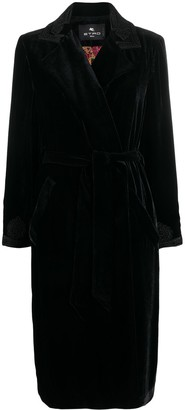 Etro Embroidered Velvet Coat