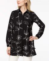 Alfani Printed Side-Tie Tunic, Created for Macy's