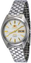Orient #FAB0000DW Men's 3 Star Stainless Steel Dial Day Date Automatic Watch
