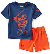 Under Armour Baby Boys 12-24 Months Baseball Player Tee & Solid Shorts Set