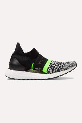 adidas by Stella McCartney Ultraboost X 3ds Leopard-print Primeknit Sneakers - Black