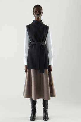 Cos Wool Tabard Knitted Vest
