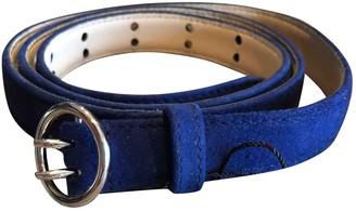 Prada Blue Suede Belts