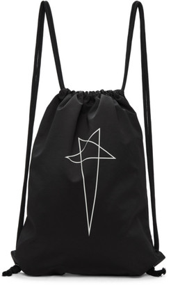 Rick Owens Black Drawstring Backpack