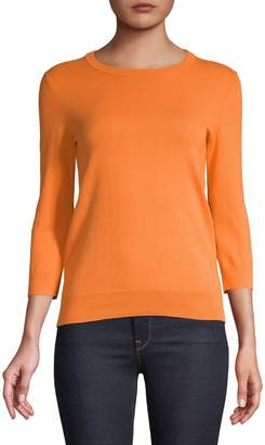 Lord & Taylor Crew-Neck Three-Quarter Sleeve Sweater