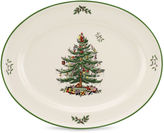 Spode Christmas Tree 14 Sculpted Porcelain Oval Platter