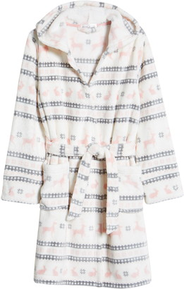 PJ Salvage Kids' Print Hooded Fleece Robe