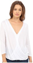 Lanston Surplice 3/4 Sleeve Top