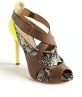 JOAN AND DAVID Odelia Colorblock Leather Sandals