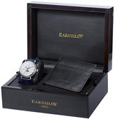 Thomas Earnshaw Men's Quartz Watch and Wallet Set with White Dial Analogue Display and Blue Leather Strap Earnshaw Watch and Wallet Set (TE-SET2)