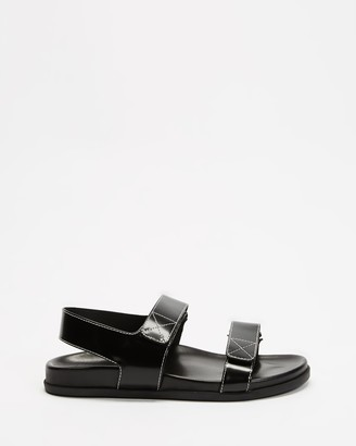 Sol Sana Women's Black Sandals - ICONIC EXCLUSIVE - Elsa Wedge - Size 36 at The Iconic
